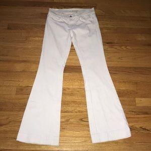 J Brand Lovestory White Flare Jeans